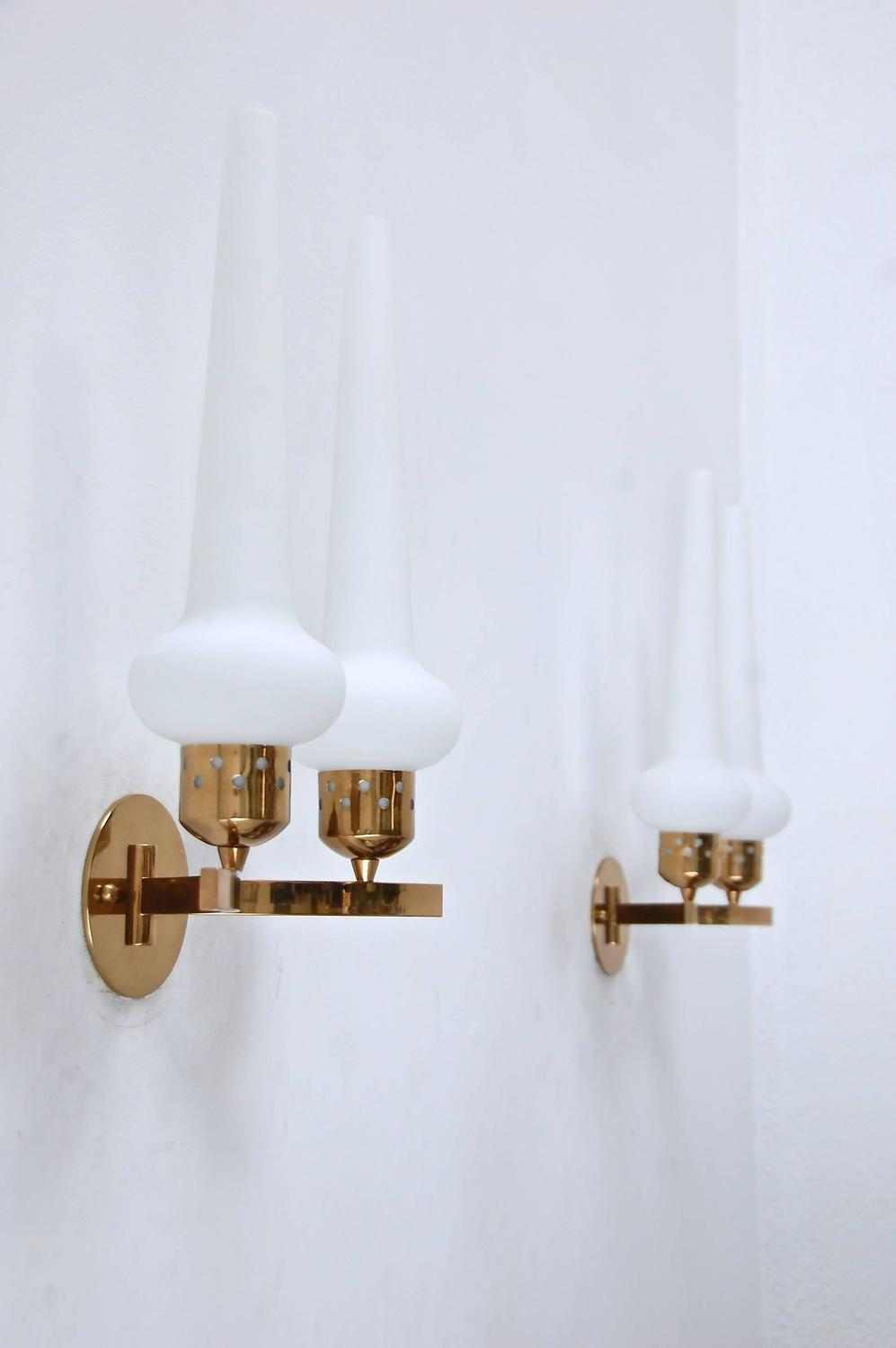 Double Wall Sconce With Shades : Double Shade Italian Sconces For Sale at 1stdibs