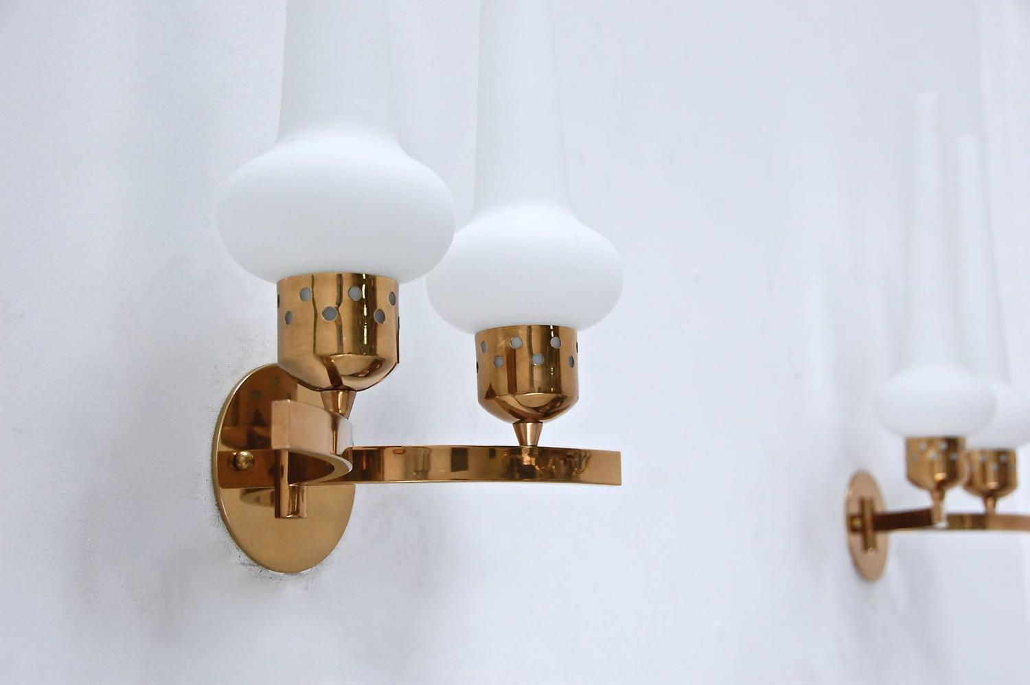 Double Shade Italian Sconces For Sale at 1stdibs