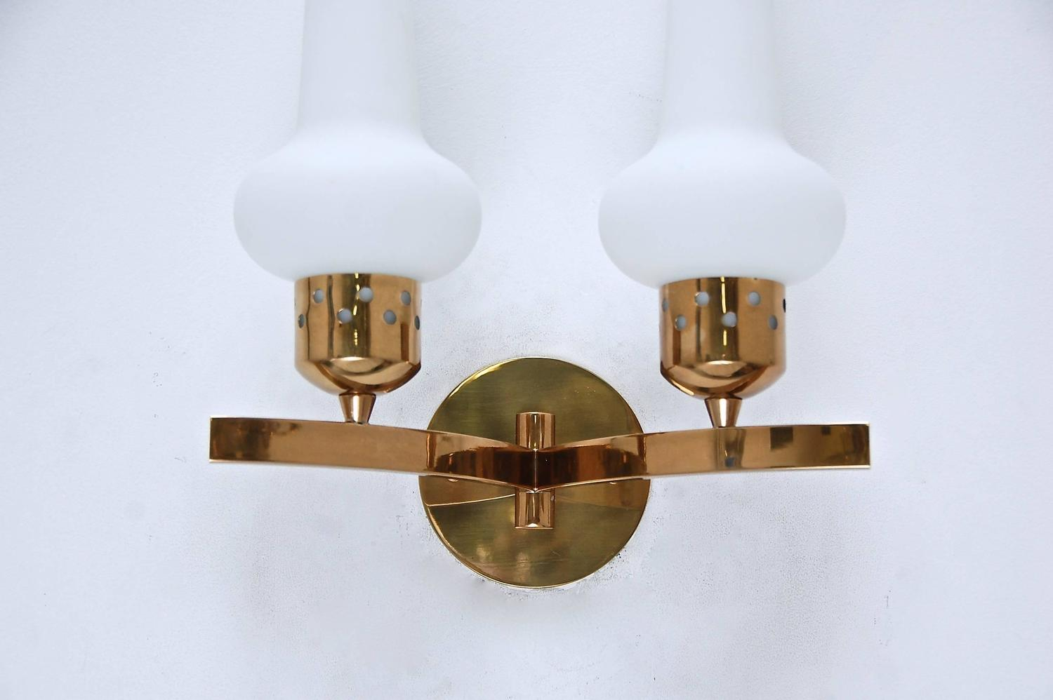 Double Shade Wall Sconces : Double Shade Italian Sconces For Sale at 1stdibs