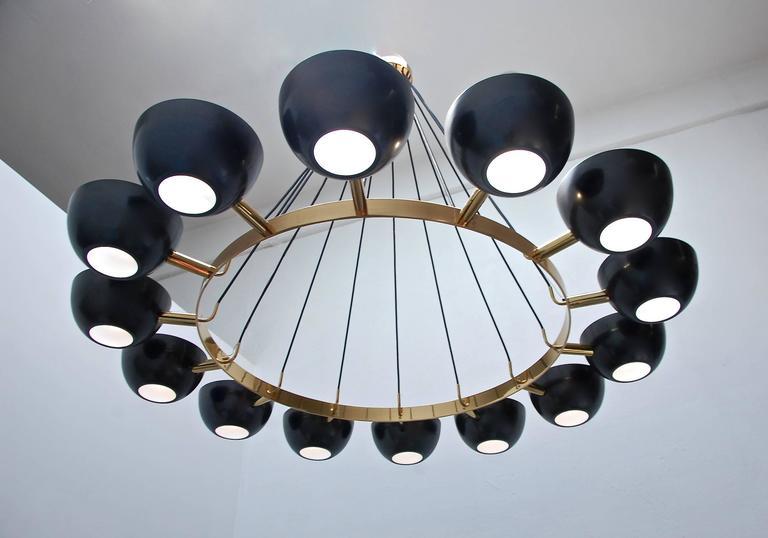 Mid-Century Modern LUfatti Chandelier by Lumfardo Luminaires For Sale