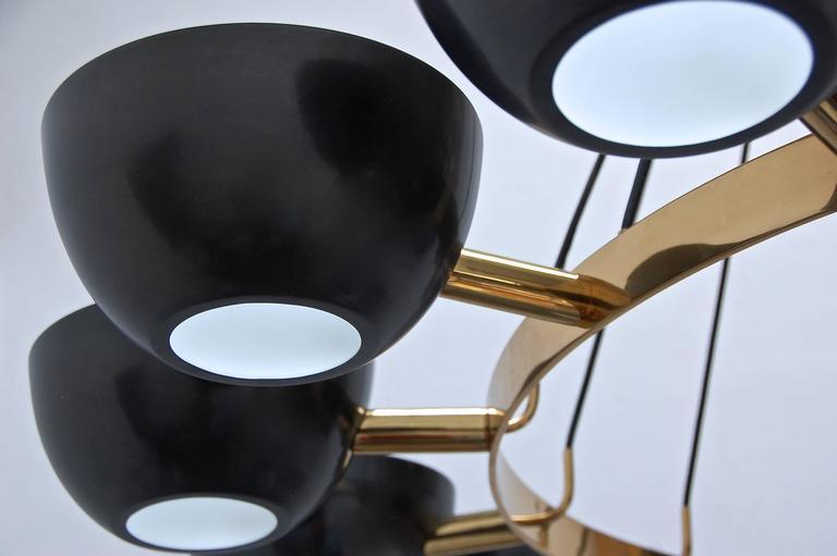 Mid-20th Century LUfatti Chandelier by Lumfardo Luminaires For Sale