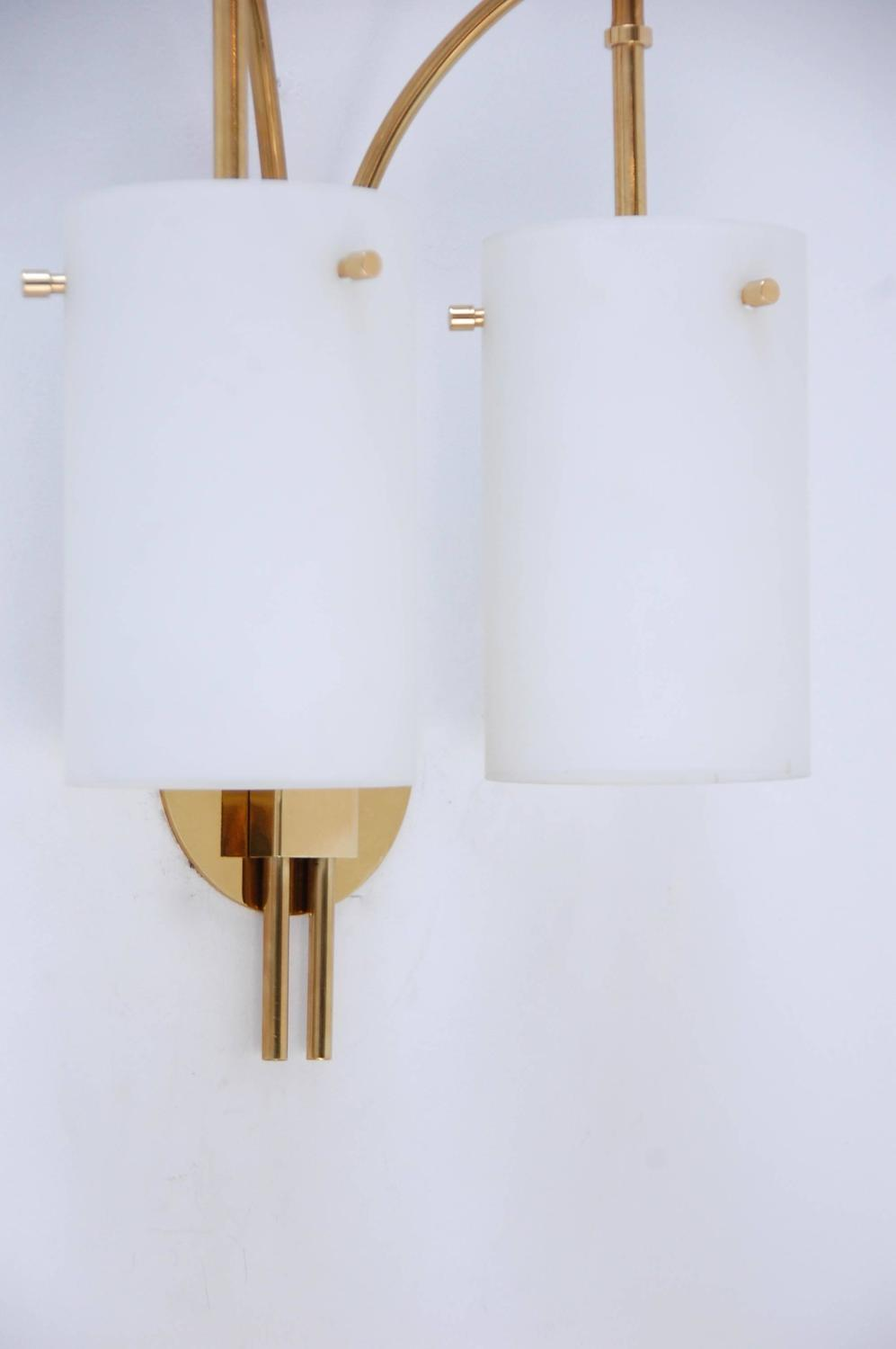 1950s Italian Double Shade Cylinder Sconce For Sale at 1stdibs