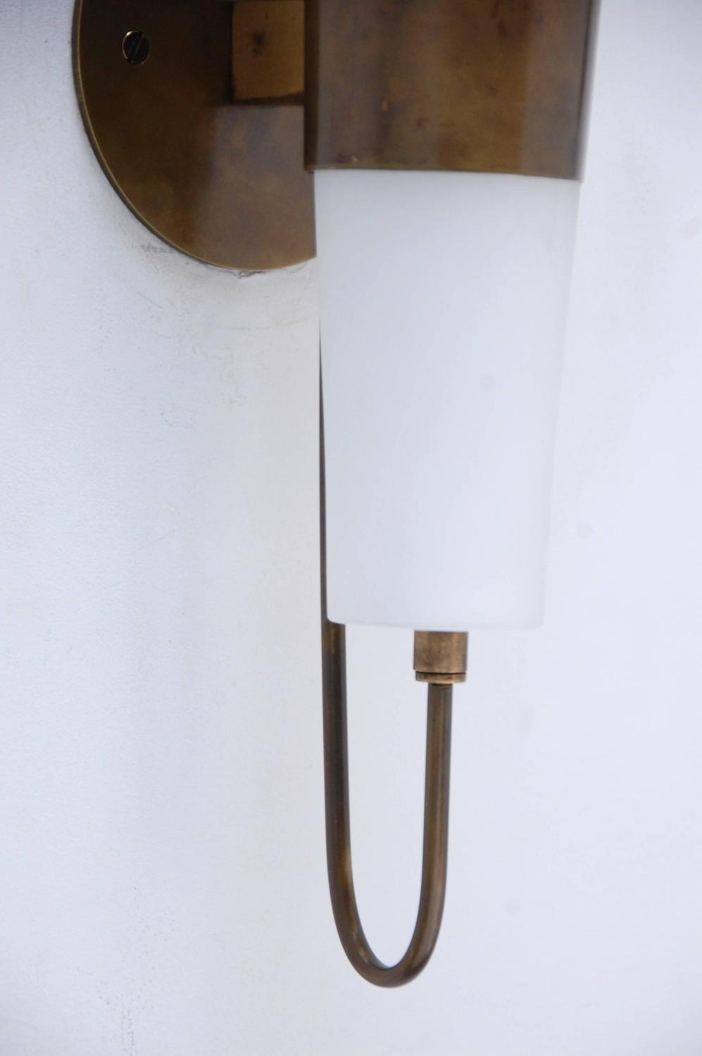 Wall Torchiere Lamps : 1940s Italian Torchiere Sconces at 1stdibs
