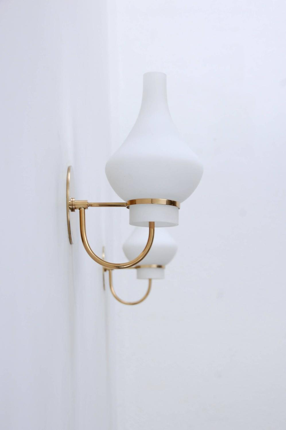 Contemporary Italian Wall Sconces : Modern Italian 1950s Sconces For Sale at 1stdibs