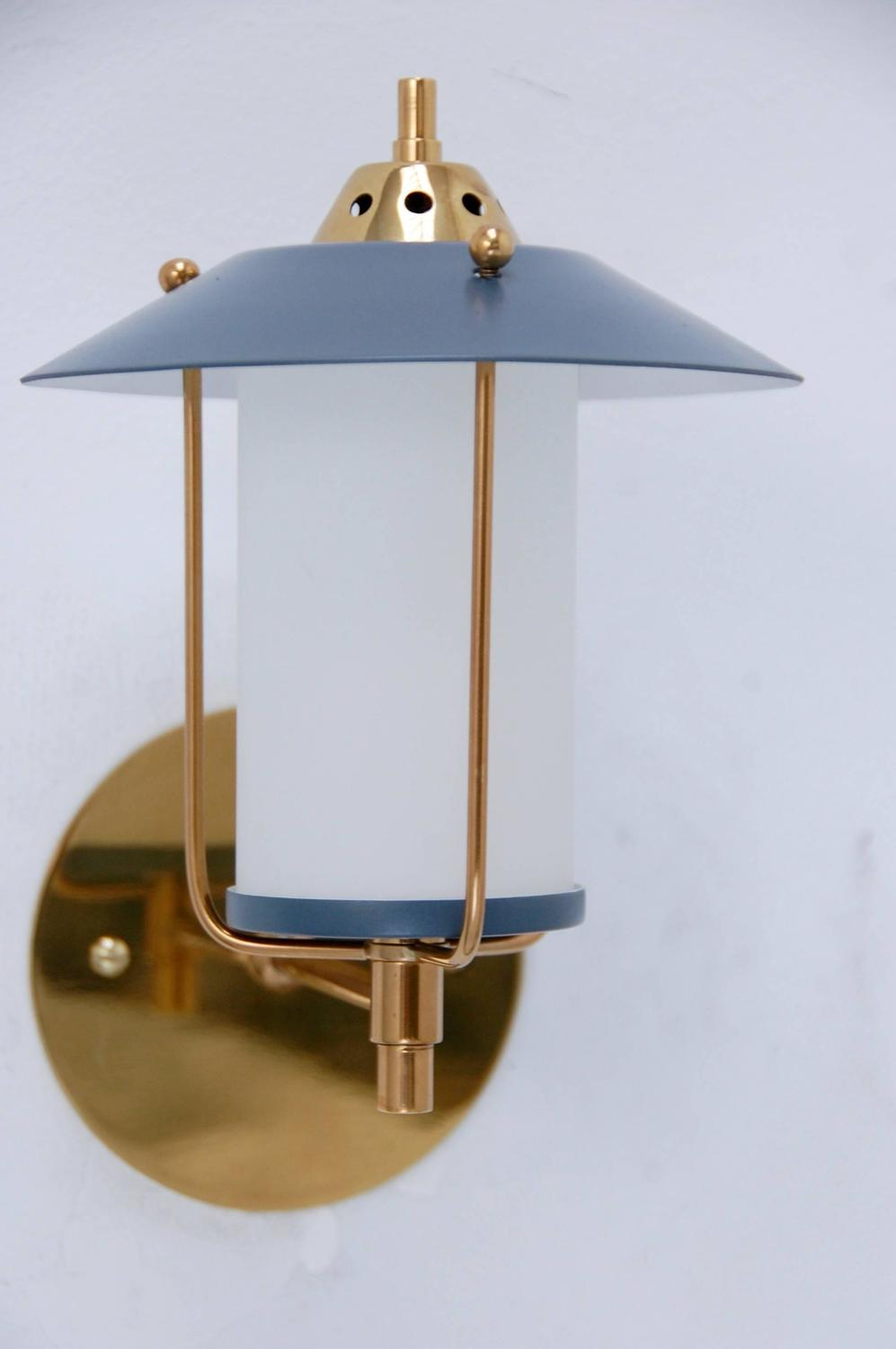 Mid Century Modern Outdoor Wall Sconces : Petite Italian Mid-Century Indoor Outdoor Sconces at 1stdibs