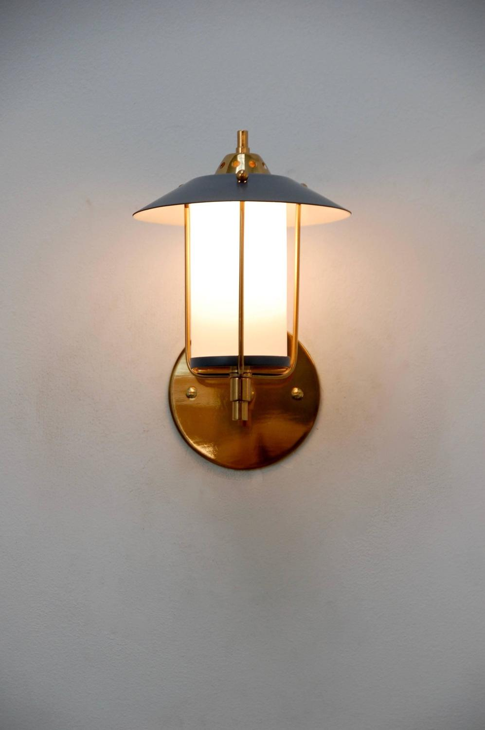 Petite italian mid century indoor outdoor sconces at 1stdibs for Mid century porch light