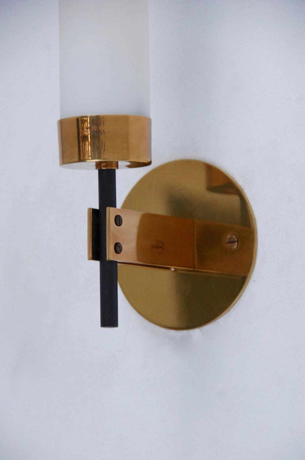 Pair of stilnovo cylindrical sconces at 1stdibs - Cylindrical wall sconce ...