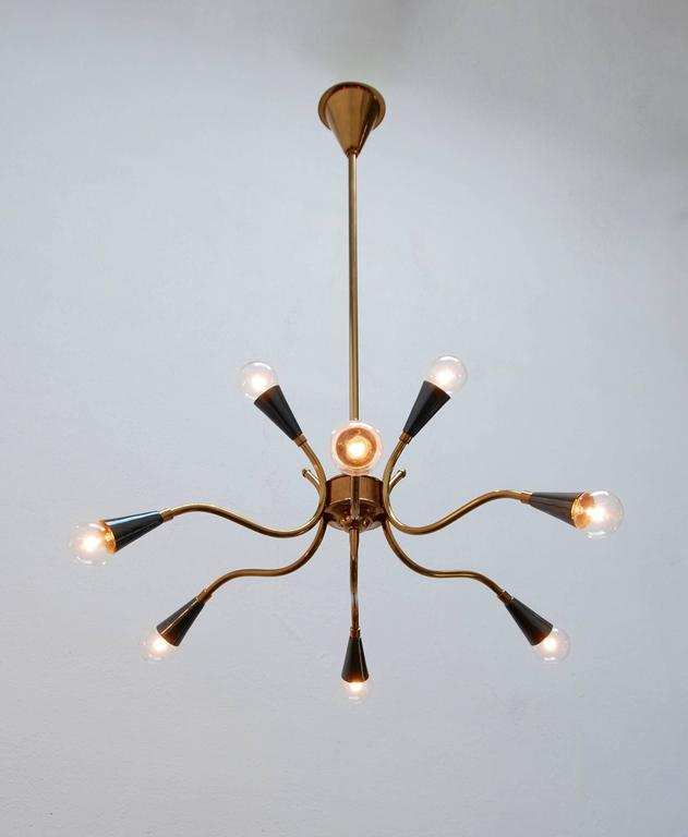1950s Solid Brass Italian Sputnik For Sale 1
