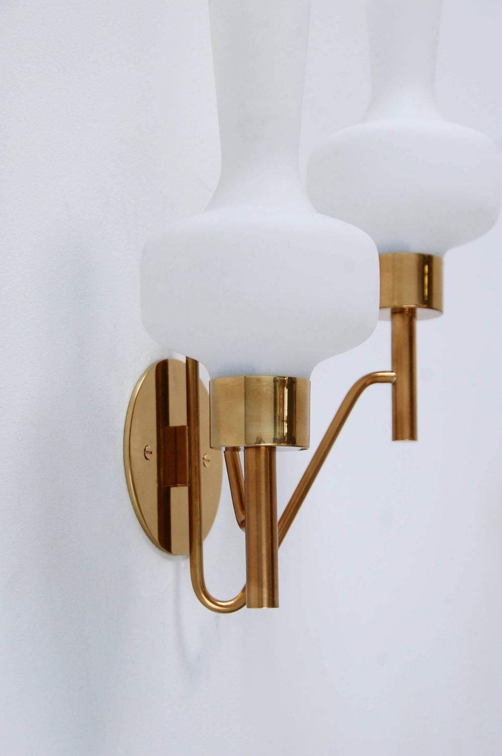 Classic Italian Double Shade Sconce For Sale at 1stdibs