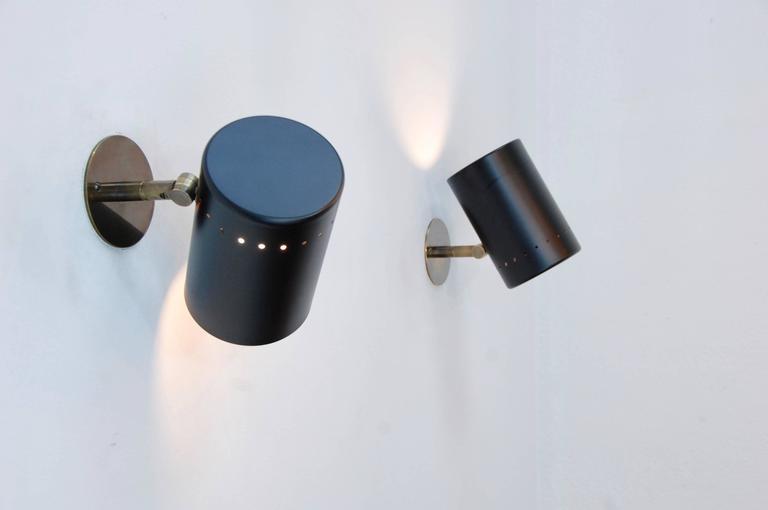 Lightolier Exterior Wall Sconces : Black Lightolier Sconces For Sale at 1stdibs