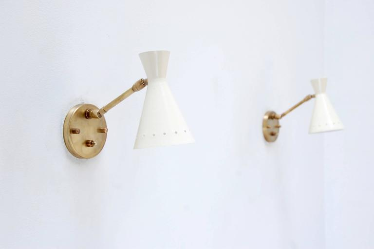 Mid-20th Century Perforated Articulating Sconce For Sale