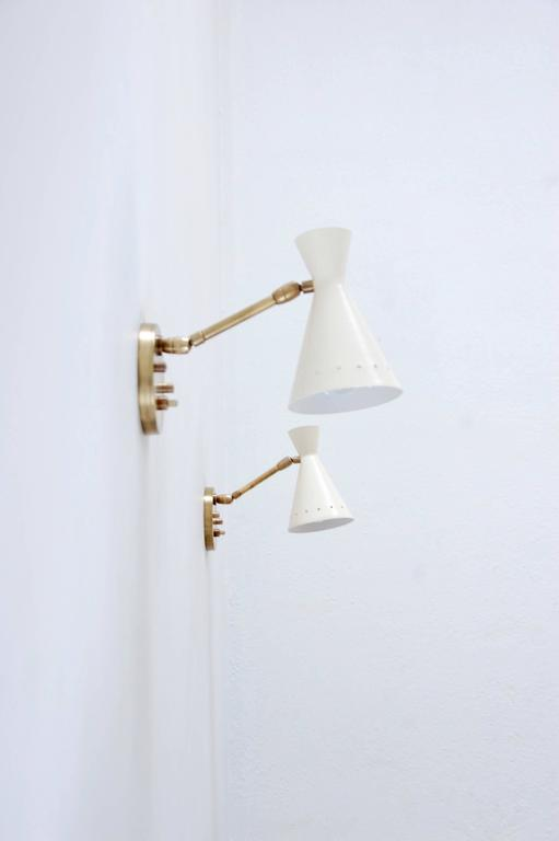 Italian Perforated Articulating Sconce For Sale
