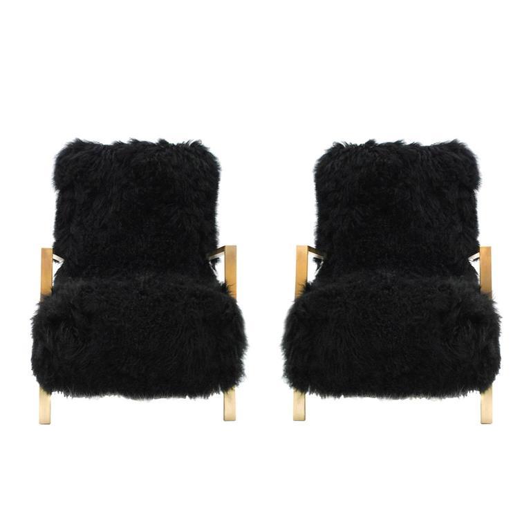 Mongolian Goat Armchairs