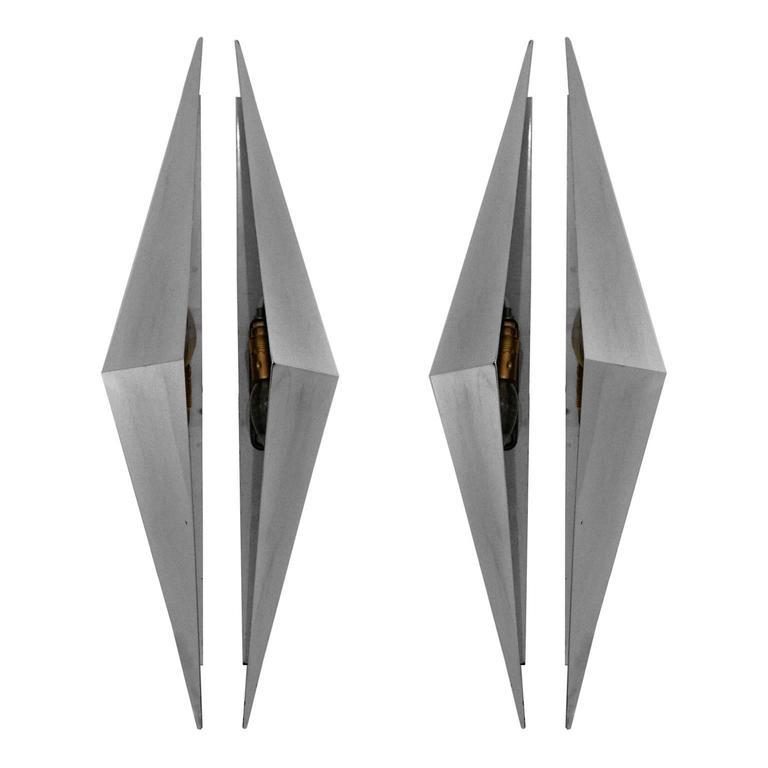Pair of Triangular Sconces