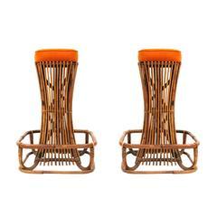 Pair of Stools Designed by Osvaldo Borsani