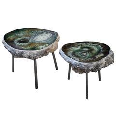 "Pair of Sidetables ""Bonbooom"" designed by Von Pelt Atelier"