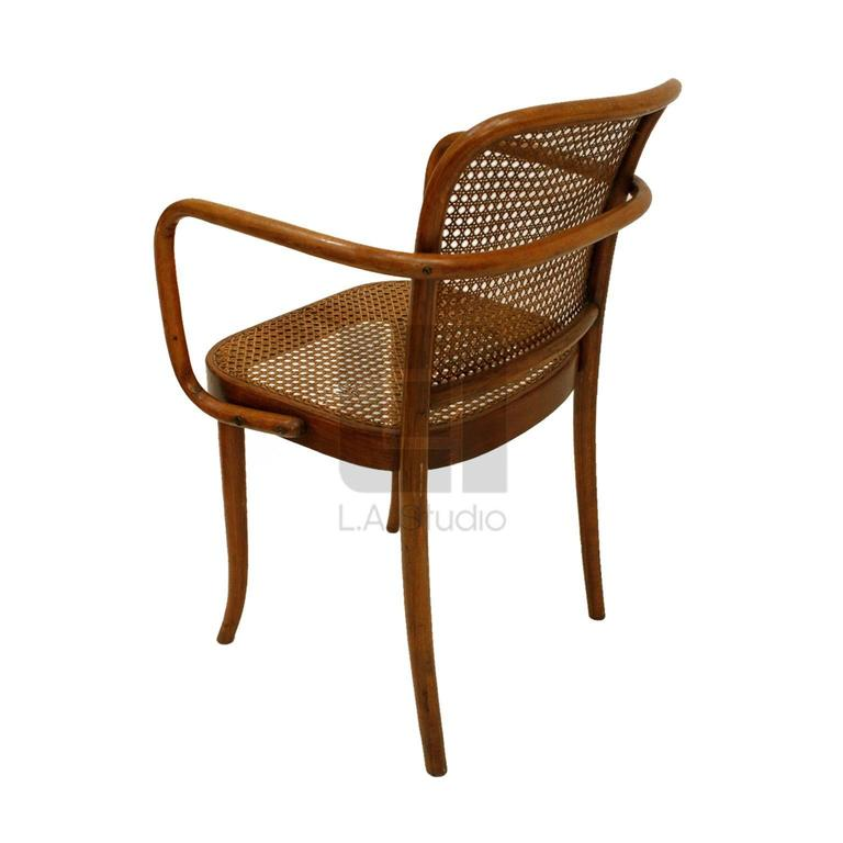 Set Of Four Praga Bentwood Armchairs By Josef Hoffman