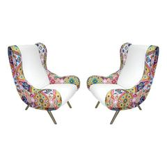 Pair of Armchairs Mod. Senior Designed by Marco Zanuso and Edited by Arflex
