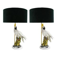 Pair of Table Lamps Type Capodimonte