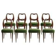 Set of Eight Chairs Designed by Osvaldo Borsani