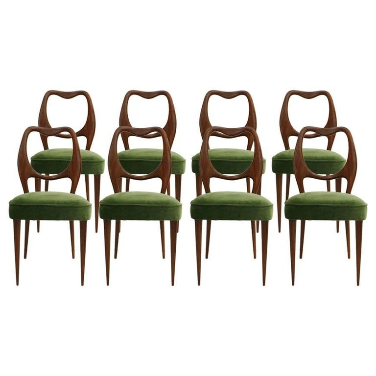 Set of Eight Chairs Designed by Vittorio Dassi 1