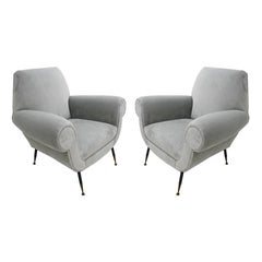 Pair of Armchairs Designed by Gigi Radice for Minotti