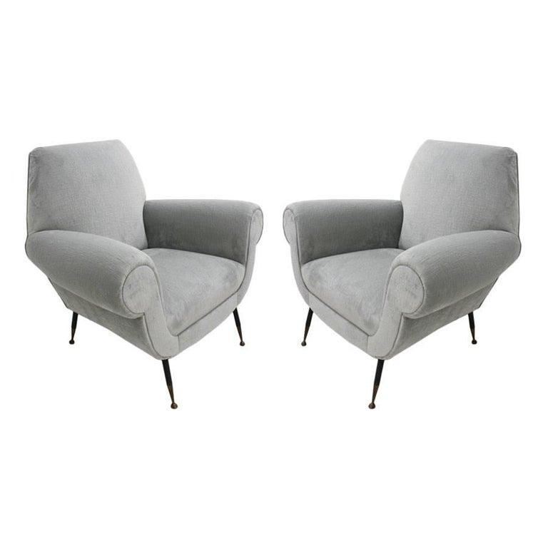 Pair of Armchairs Designed by Gigi Radice for Minotti 1