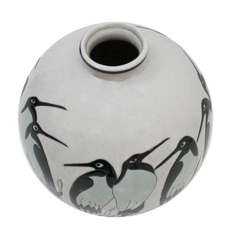 Belgian Art Deco Porcelain Vase For Sale