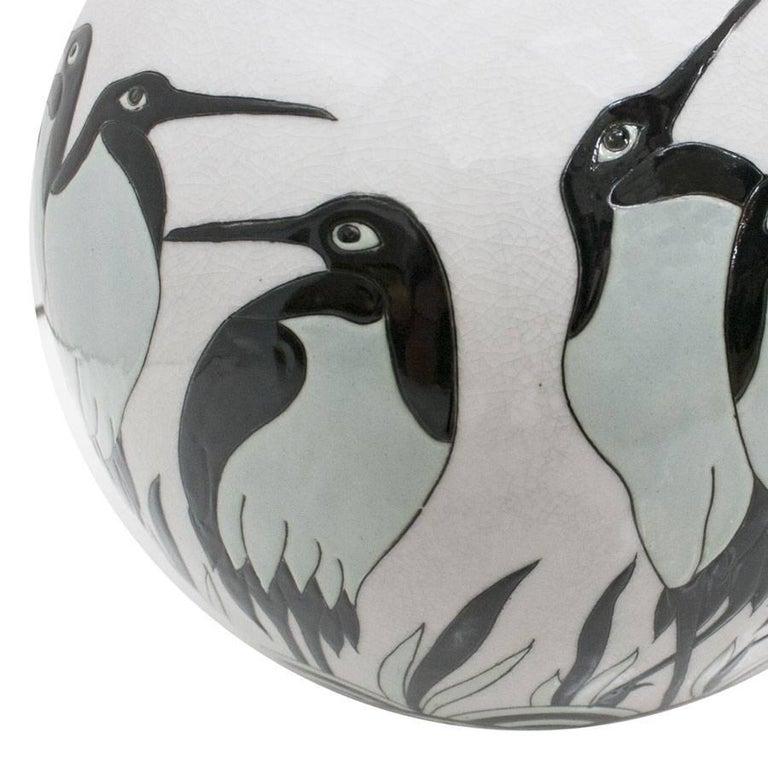 Art Deco Porcelain Vase In Excellent Condition For Sale In Madrid, ES