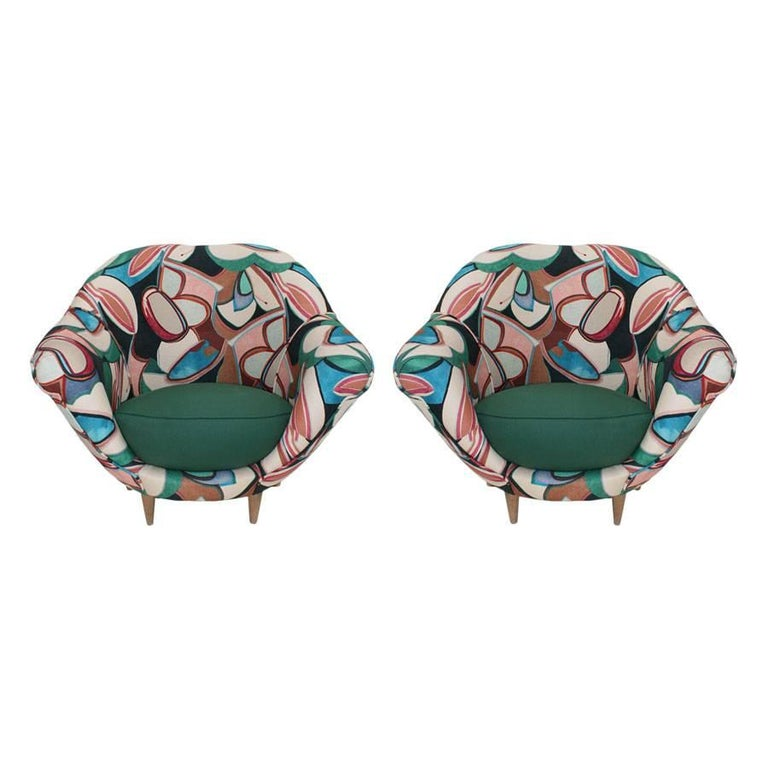 Pair of Italian Armchairs 1