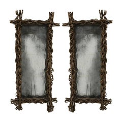 Pair of Aged Mirrors