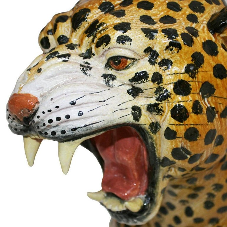 Italian French Leopard Sculpture For Sale