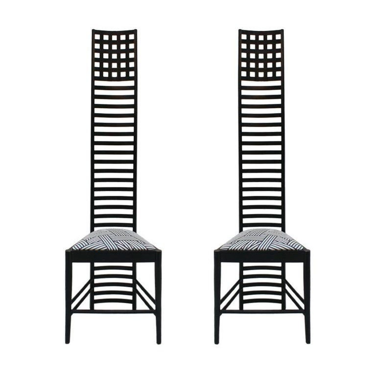 "Pair of ""292 Hill House 1"" Chairs Designed by Mackintosh"
