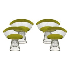 Set of Four Chairs Designed by Warren Platner and Edited by Knoll
