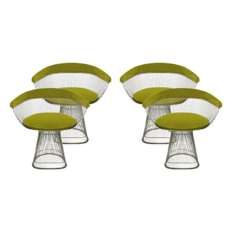 Set of Four Chairs Designed by Warren Platner and Edited by Knoll 1
