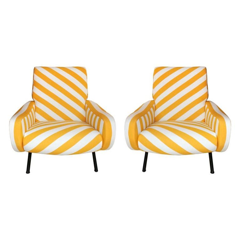 Pair of Armchairs Mod Lady Designed by Marco Zanuso and Edited by Arflex 2