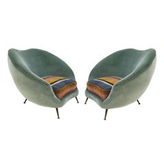 Pair of Armchairs Designed by Federico Munari