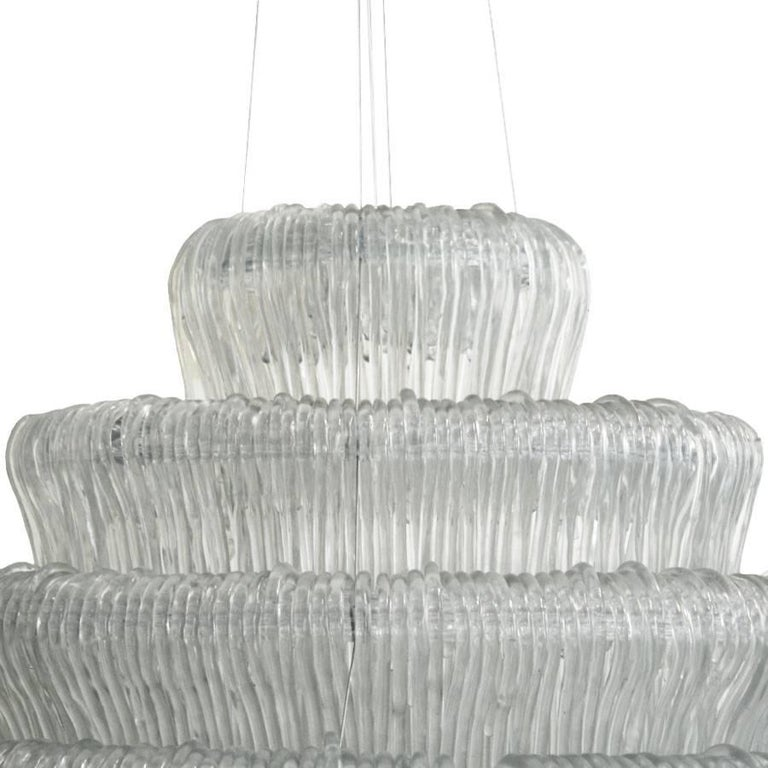 Suspension lamp designed by Jacopo Foggini model Sneeze A, made of cast methacrylate.