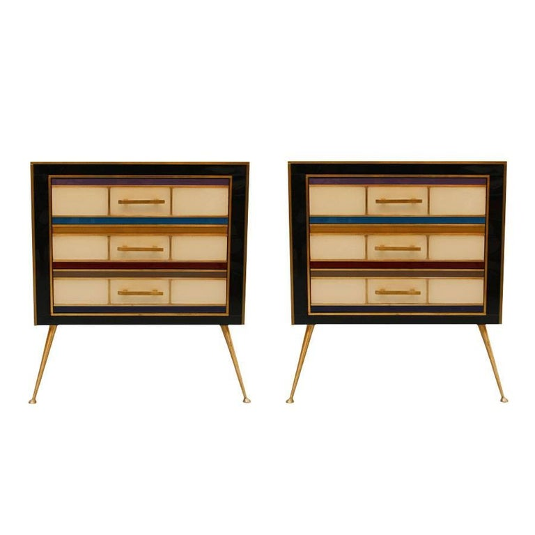 Pair of Italian Night Stands For Sale