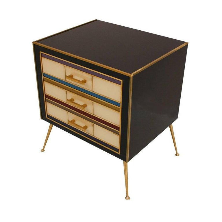 Contemporary Pair of Italian Night Stands For Sale
