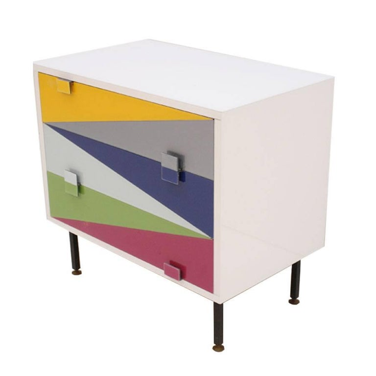 Pair of Italian Nightstands Designed by L.A. Studio In Excellent Condition For Sale In Madrid, ES