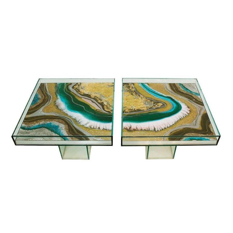 Pair of Side Tables Designed by L.A. Studio For Sale