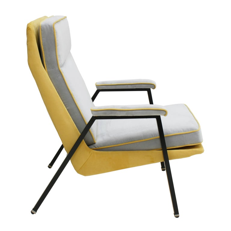 Mid-Century Modern Armchair Designed by Pierre Guariche, France, 1950 For Sale