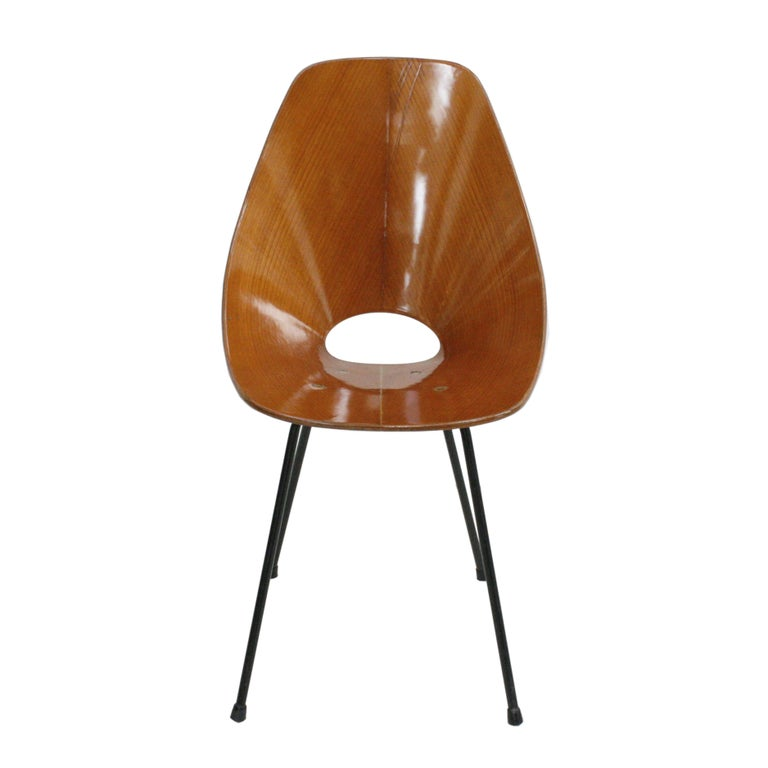Italian Vittorio Nobili Set of Six Chairs Model