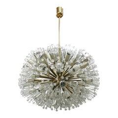 Emil Stejnar Sputnik Murano Glass and Metal Suspension Lamp, Vienna, 1960s
