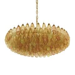 Carlo Scarpa Midcentury Poliedri Murano Glass Pendant Lamp, Italy, 1960s