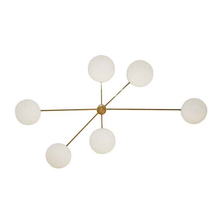 Italian Ceiling Lamp in the Style of Angelo Lelli For Sale