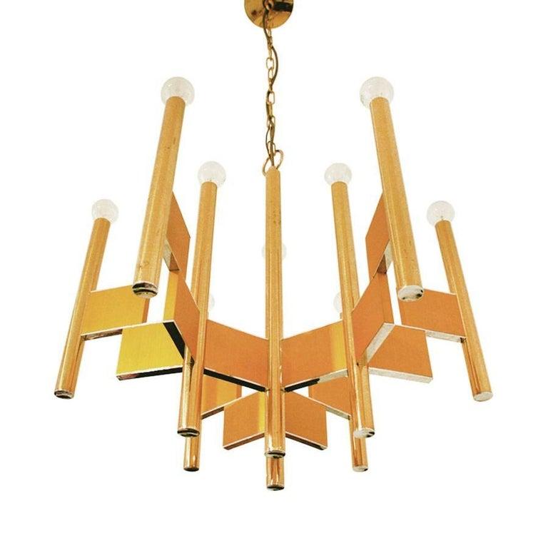 Italian Pendant Light by Gaetano Sciolari, Italy, 1970 For Sale