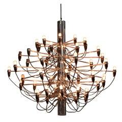 "Gino Sarfatti Pendant ""Castell"" Lamp Model Reedited by Arteluce. Italy 1980"