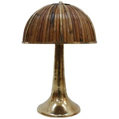 "Gabriella Crespi ""Fungo"" Signed Table Lamp, Italy, 1970s"